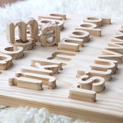 Double sided Alphabet Tracing board with lowercase letters for Monique