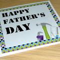 Father's Day card - tradie - tools