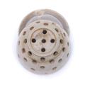 Rustic handmade ceramic berry Bowl w/ matching saucer - dishwasher safe - nutmeg