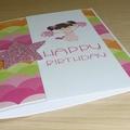Happy Birthday card - Cheer leader girl