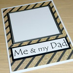 Dads Birthday card - Me & my dad - Kids can draw their own picture!