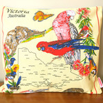 Vintage Retro - Victoria Australia Map Cushion