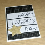 Father's Day card - black and gold star