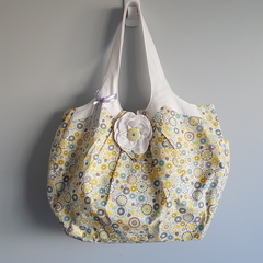 Beautiful floral large nappy / overnight / work OOAK bag