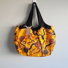 Indigenous print large nappy / overnight / work bag OOAK