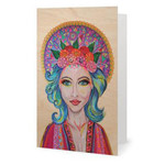 Boho Free Spirit Goddess Greeting Card