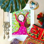 Boho Dreaming Whimsical Illustration Watercolour Painting Tribal Art Boho Free S