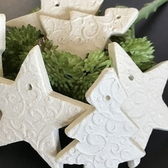 6 x Ceramic Christmas Ornaments or Large Gift Tags