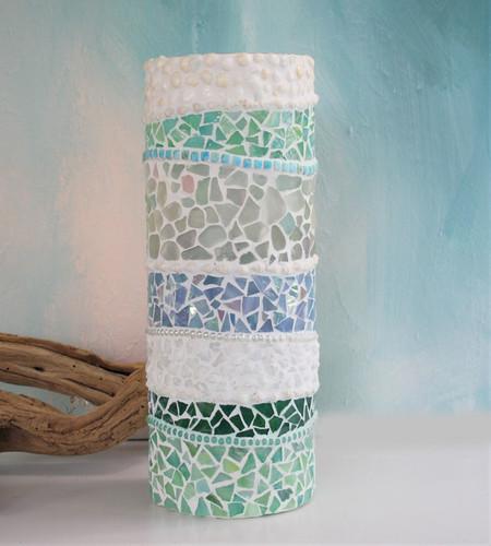 Mosaic Vase coastal beach theme