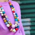 "Hand-painted ""MARCELLA"" Limited Edition Wooden Necklace"
