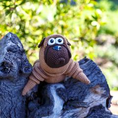 Handmade Crochet Bull Dog