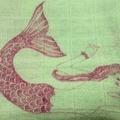 100% Organic Muslin baby Wrap -Mermaid Print
