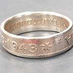 Australian Shilling Coin Ring