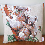 Vintage Retro Australian Koalas & Gumleaves Cushion