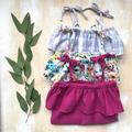 Girls Linen/Cotton Summer Ruffle Dress - Floral  Sizes 1-2, 3-4 & 5-6 years