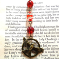 Bronze Bird Bookmark with Red Beads