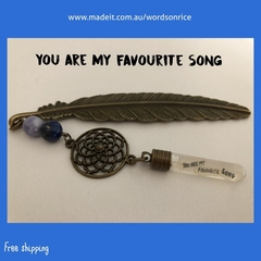 YOU ARE MY FAVOURITE SONG - bookmark