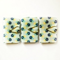 Mini Blank Books {3} Pale Blue Yellow Floral | Mini Notebooks Journals Books
