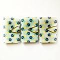 Mini Blank Books {3} Pale Blue Yellow Floral | Mini Notebooks Journals Books