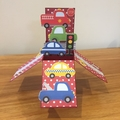 Cars and trucks pop up card, kids pop up card, pop up cards kids, cars and truck