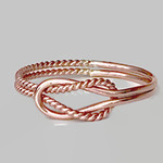 Rose gold love knot ring/ buckle knot ring/ promise ring