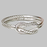 Celtic knot ring/ buckle knot ring/ sterling silver/ love knot ring