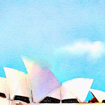 Watercolor Print - Sydney Opera House - Australia