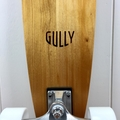 Handmade solid timber skateboard - Kauri V-tail