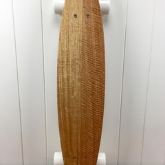 Handmade solid timber skateboard - Vic Ash - Small Flat-tail