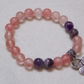 Healing Heart Chakra Cherry Quarts Bracelet