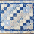 Cot quilt nautical theme - unisex, baby gift