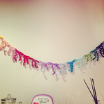 Rainbow Garland, Party Garland, Rainbow Bunting, Party Bunting, Party Decor, Roo