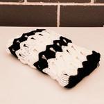 Monochrome blanket, Black and white blanket, Vintage Fan Ripple, Baby Blanket,Pr