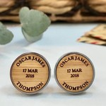 Personalised bamboo cufflinks for Father's Day - My Children