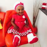 Baby Dress, Crochet Baby Dress, Ruffles Dress, Butterfly Dress