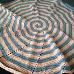 Crochet Spiral Baby Blanket, Pram Blanket, Nursery Decor, Afghan, Gift,