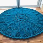 Rug, Crochet Floor Rug, Round Rug, decorative floor rug, nursery rug, mandala ru