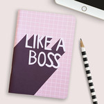 Like a Boss Pink 28 page Notebook / Cute Stationery for Women / Birthday Gift