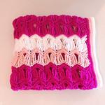 Baby Blanket, Baby Girl Blanket, Pram Blanket, Pink Crochet Blanket, Ripple Blan