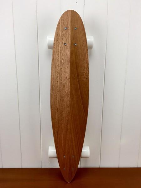 Handmade solid timber skateboard - Vic Ash Pin-tail