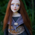 Grainne - One of a Kind Collectible Art Doll - Polymer Clay