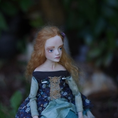 Ondine - One of a Kind Collectible Art Doll - Polymer Clay