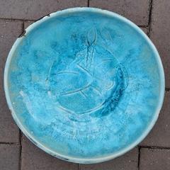 Lotus Birth Bowl. Handcrafted wheel thrown ceramic pottery porcelain bowl custom