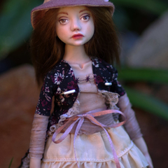Anabel - One of a Kind Collectible Art Doll - Polymer Clay