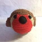 Robin Red Breast Bird Toy Ball