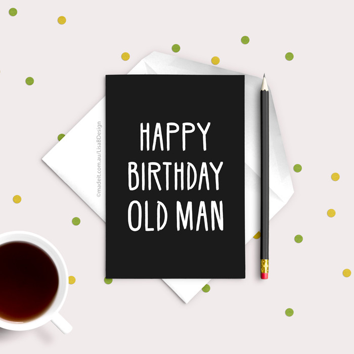 Funny Birthday Card For Him Dad Brother Best Friend Card Lisa