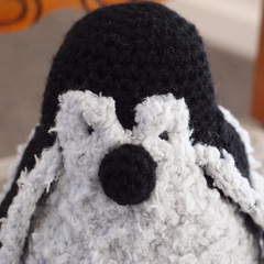 Peewee the hand crocheted penguin by CuddleCorner: