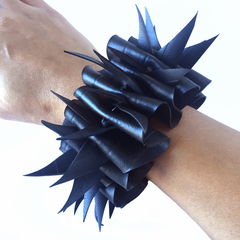 Vegan Bracelet made from recycled bicycle inner tubes. Size XXS