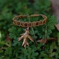 Oak Leaf Bracelet - Rose Gold Bronze with Dragon Vein Agate