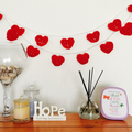 Bunting of Hearts, Valentine's Day love heart bunting, occasion decoration, part
